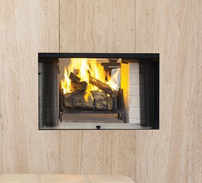 Wood fireplaces craftsman see thru kastle fireplace for Craftsman gas fireplace