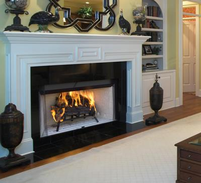 Wood fireplaces craftsman kastle fireplace for Craftsman gas fireplace