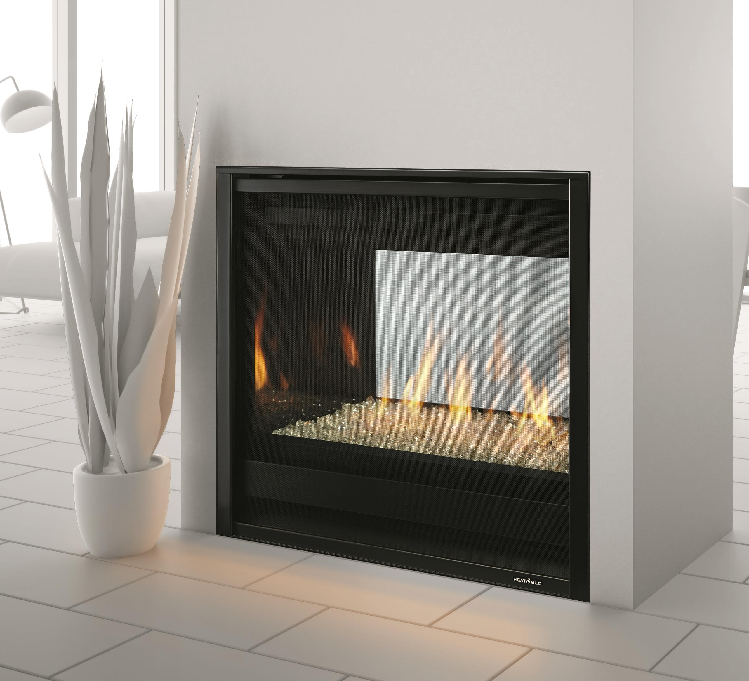 Gas Fireplaces - ST-36 See-Through - Kastle Fireplace