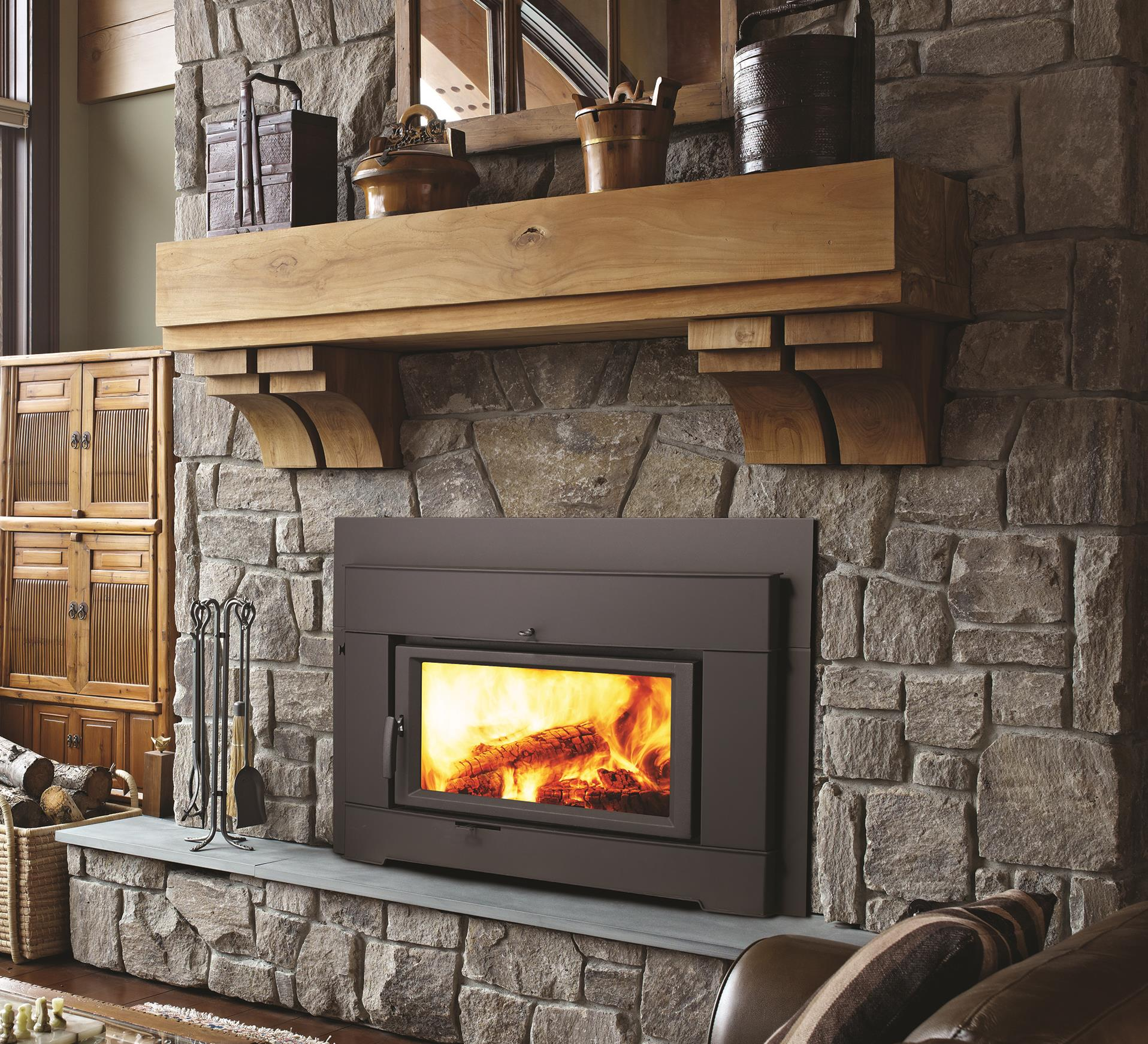 Wood inserts pro series ci2600 kastle fireplace for Contemporary wood fireplace insert