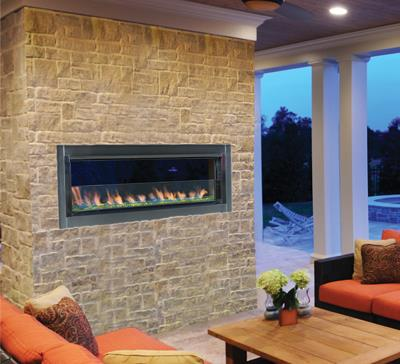 Outdoor Gas Fireplaces - Berlin Lights - Kastle Fireplace