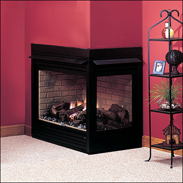 CORNER FIREPLACES: CORNER GAS FIREPLACE