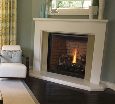 Gas fireplaces montebello dlx kastle fireplace for Montebello fireplace