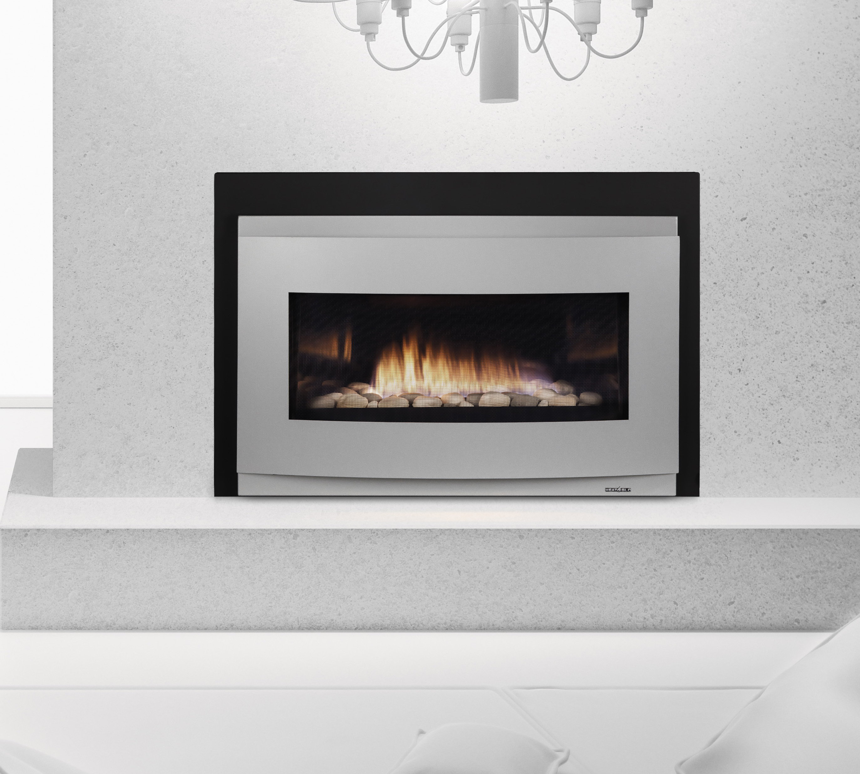 Gas inserts cosmo gas insert kastle fireplace for Fireplace insert options