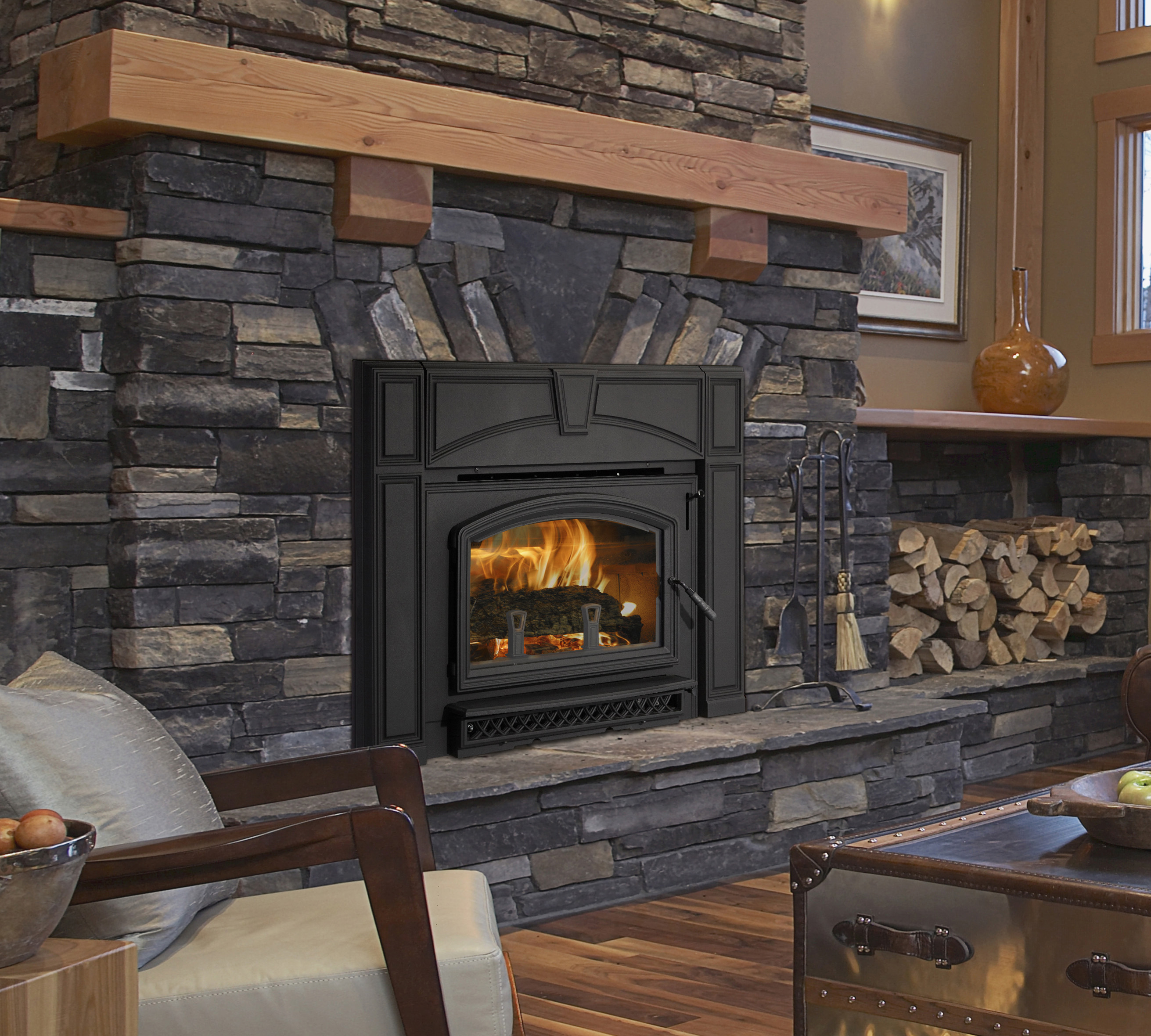 Wood Inserts Voyageur Grand Kastle Fireplace
