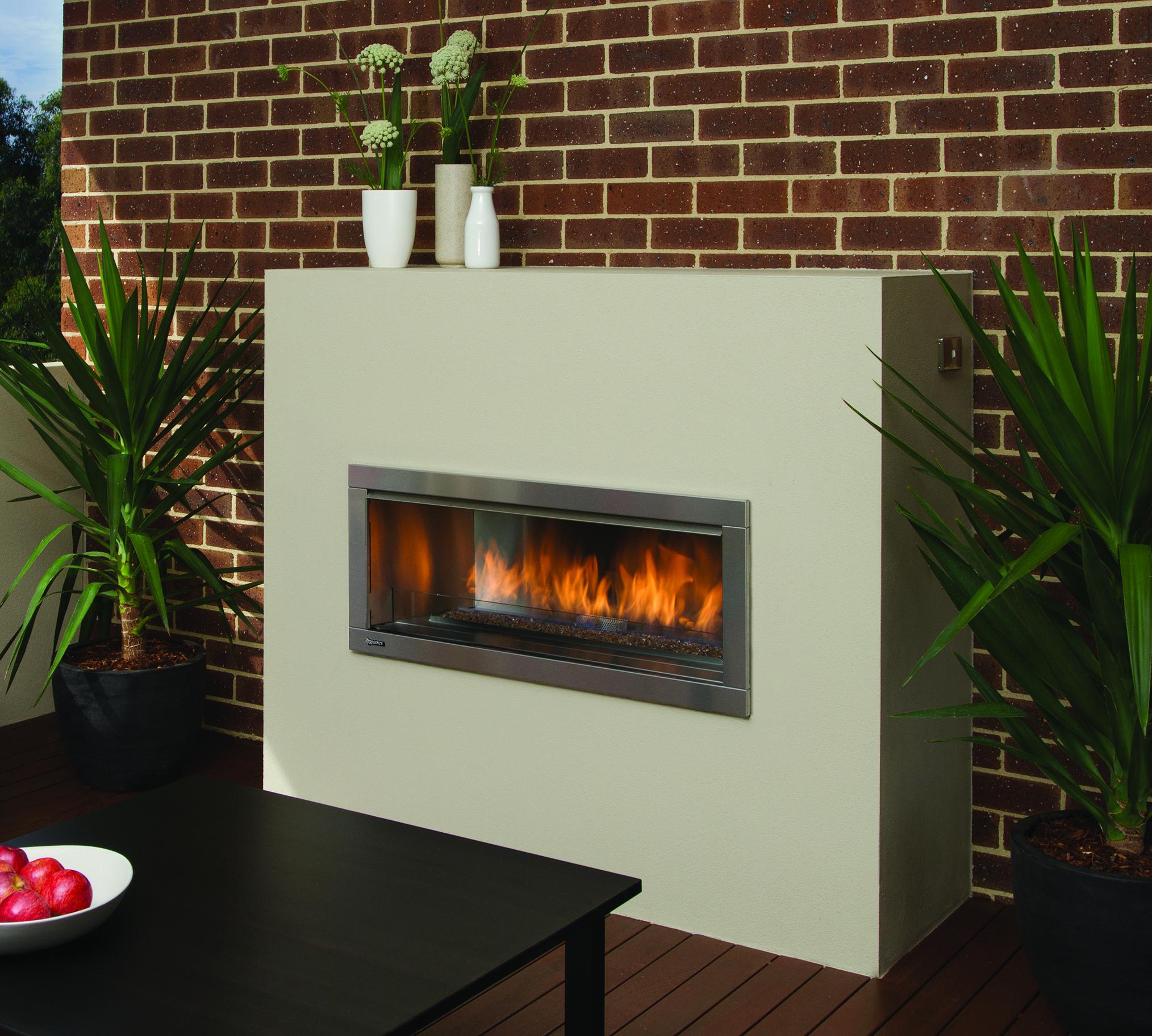 Outdoor Gas Fireplaces - Horizon HZO42 - Kastle Fireplace on Outdoor Gas Fireplace For Deck id=18097