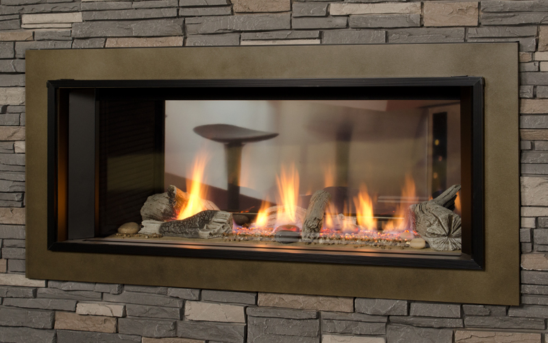 Gas Fireplaces L1 Linear Series 2 Sided Kastle Fireplace
