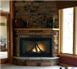 "The ""Big Dog"" direct vent gas fireplace features a 41% larger viewing area than another other fireplace in its class."