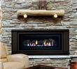 Traditional clean face direct vent gas fireplace.
