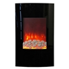 35-inch electric fireplace tower that can be corner or flat wall mounted.