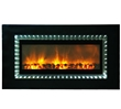 Non-heating electric fireplace that converts to a mirror when the flames are turned off.