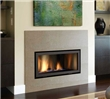 Direct vent contemporary gas fireplace for smaller living spaces.