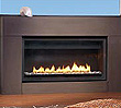 26,000 BTU/hour 38-inch flush face direct vent gas fireplace.  Available as both an indoor and outdoor fireplace.