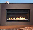 """32,000 BTU/hour 42"""" flush face direct vent gas fireplace.  Available as both an indoor and outdoor fireplace."""