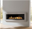 Zero clearance direct vent ribbon gas fireplace.