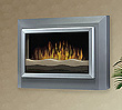 Electric fireplace in a plasma TV style.