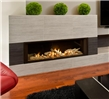 Linear series electric fireplace.