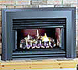 This fireplace insert features 25,000 BTU, and your choice of deluxe or standard faceplates.