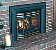 U32 Medium direct vent gas insert for use in medium-sized rooms in airtight homes or basements with existing wood fireplaces.