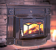 Hampton HI300 wood insert designed for existing masonry fireplaces in rooms of up to 2000 square feet.
