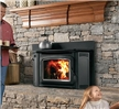Wood insert capable of up to 76,000 BTU/hour of heat.