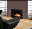Contemporary design gas insert with your choice of five glass media options.