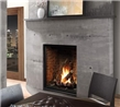 Zero clearance direct vent gas fireplace, available in 39-inch and 46-inch sizes