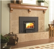 55,000 maximum BTU wood fireplace insert for small fireplaces and new homes designed for compact fireplace styles.