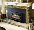 Plate steel wood fireplace insert.