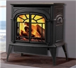 Rear direct vent gas stove.