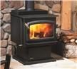 Medium freestanding wood stove.
