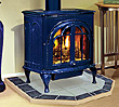 Free-standing gas stove from the Dave Lennox Elite Series.